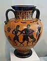 Herakles and the Nemean Lion, with Theseus and the Minotaur, neck amphora (storage jar), Greek, Attic, 540-530 BC, terracotta, black-figure technique - Arthur M. Sackler Museum, Harvard University - DSC01551.jpg