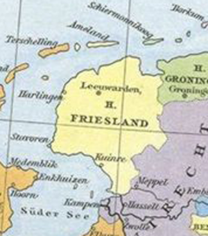 Lordship of Frisia - Lordship of Friesland about 1524
