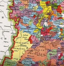 Lotrinské vévodství okolo roku 1250
