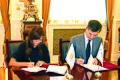 """Heydər Əliyev Fondu ilə Rusiyanın """"Uralsib"""" maliyyə korporasiyası arasında Anlaşma Memorandumunun imzalanması mərasimi..JPG"""