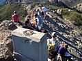Hikers on Sandstone Peak summit.JPG