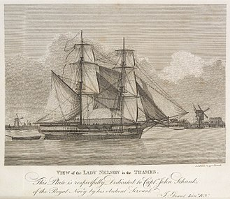 HMS Lady Nelson (1798) - Image: His Majesty's vessel the Lady Nelson 1799