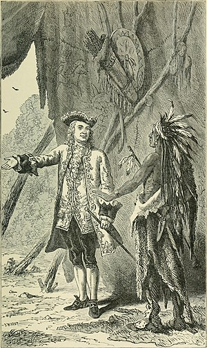 Sir William Johnson, 1st Baronet - William Johnson negotiating with a Mohawk Chief. History of the city of New York, 1896.