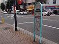 Hitachi Jidosha Kotsu Kazaguruma Izumibashi Branch Office Bus stop 2012.jpg