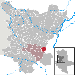 Location of Hohendodeleben within the Börde district