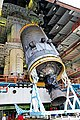 Hoisting of Cryogenic Upper Stage during Vehicle Integration GSLV Mk-III-D1.jpg