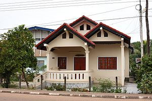 Laotian society - House in Savannakhet