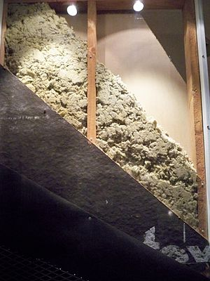 Building insulation - Image: Housing insulation by Matthew Bisanz