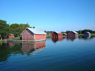 Houtskär - Boathouses in Hyppeis