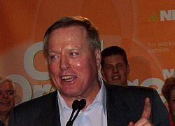 Ontario NDP leader Howard Hampton in February 2007.