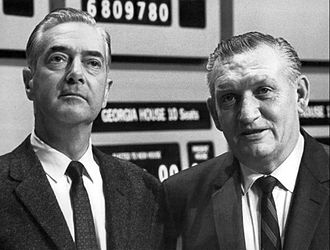 Bill Lawrence (news personality) - Howard K. Smith and Bill Lawrence (right) during ABC's coverage of the 1968 presidential election