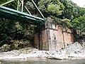 Hozugawa river bridge Abutment 20170803 01.jpg