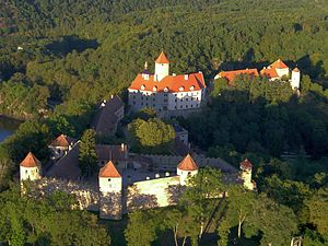 Outer bailey -  Veveří Castle in the Czech Republic with its outer bailey.