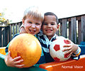 Human eyesight two children and ball normal vision color Hi-res.jpg