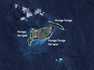 Hunga Tonga Volcano in Tonga