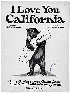 I Love You, California national anthem