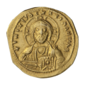 INC-3060-a Номисма тетартерон. Исаак I Комнин. Ок. 1057—1059 гг. (аверс).png