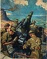 INF3-21 Coastal battery scene Artist Terence Cuneo 1939-1946.jpg