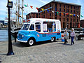 Ice cream van at Canning Half-tide Dock, Liverpool.jpg