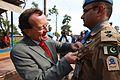 Ici à Kalemie, province du Katanga, le 26 novembre 2014, Martin Kobler, épingle la médaille des Nations Unies sur la poitrine d'un soldat du contingent pakistanais (15554587193).jpg