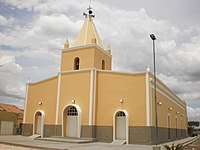 Igreja Matriz de Santo Antônio, sede da paróquia de Marcelino Vieira.