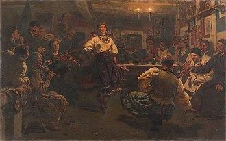 Vechornytsi - Vechornytsi, painted by Ilya Repin, 1881.