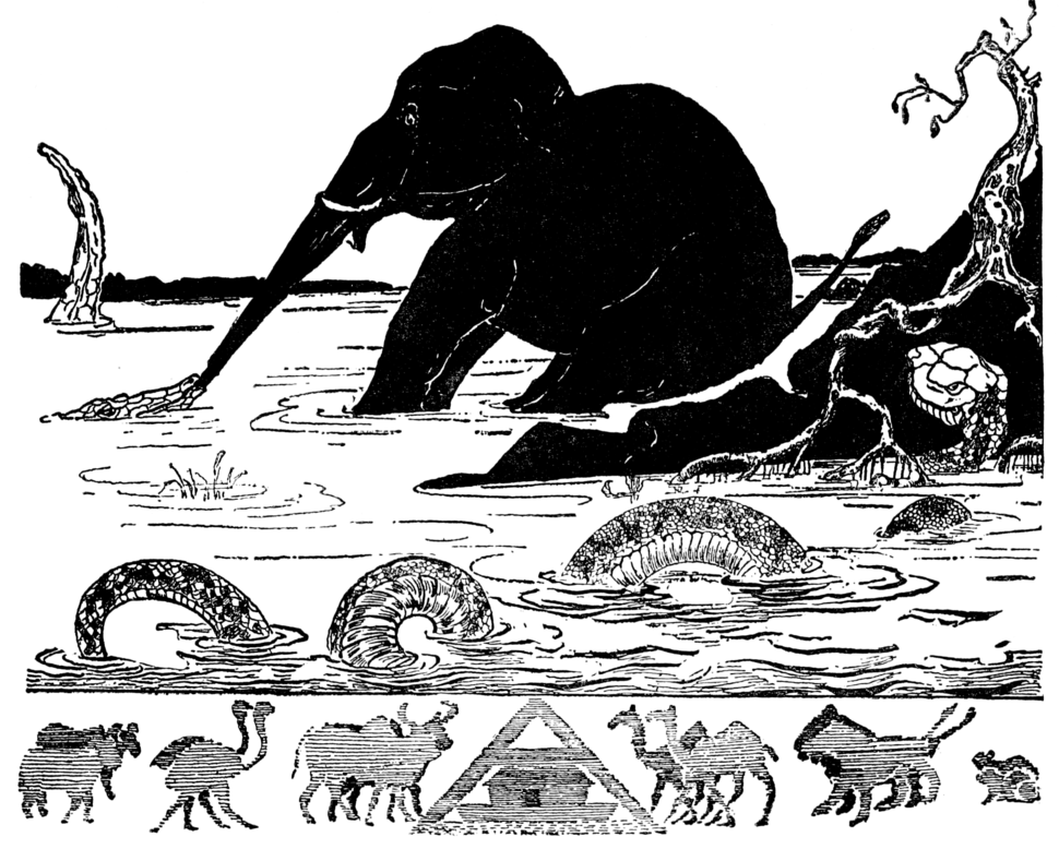 Illustration at p. 73 in Just So Stories (c1912)