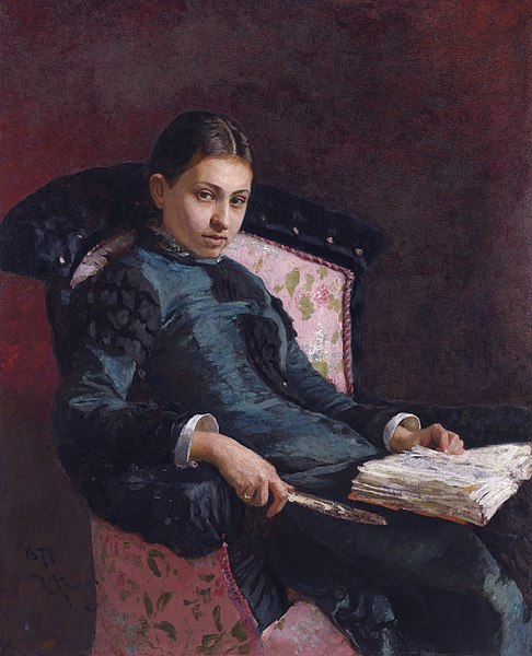 File:Ilya Repin 'Portrait of Vera Repina, the Artist's Wife. 1878' during.jpg