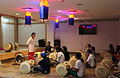 Indian learn how to play the traditional Korean janggu drum at the KCC India (1).JPG