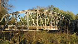 Indiana State Road 46 Bridge over Eel River, southwestern angle with sunlight.jpg