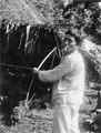 Indianen Andronico med pil och båge. Panama - SMVK - 004261.tif