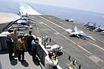Indonesian distinguished visitors observe flight deck operations aboard the aircraft carrier USS John C. Stennis (CVN 74) in U.S. 5th Fleet area of responsibility Jan. , 2013 130405-N-YW024-242.jpg