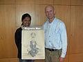 Indra Luecke Jayatunga with Miroslaw Magola alias Magnetic Man.jpg