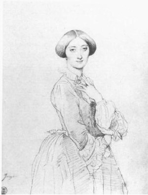 The Princesse de Broglie - Study, c 1851–52. Graphite on paper, 31.2 x 23.5 cm. Private collection
