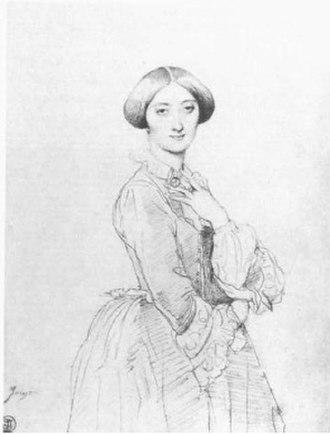 The Princesse de Broglie - Study, c 1851–52. Graphite on paper, 31.2 x 23.5 cm. Private collection