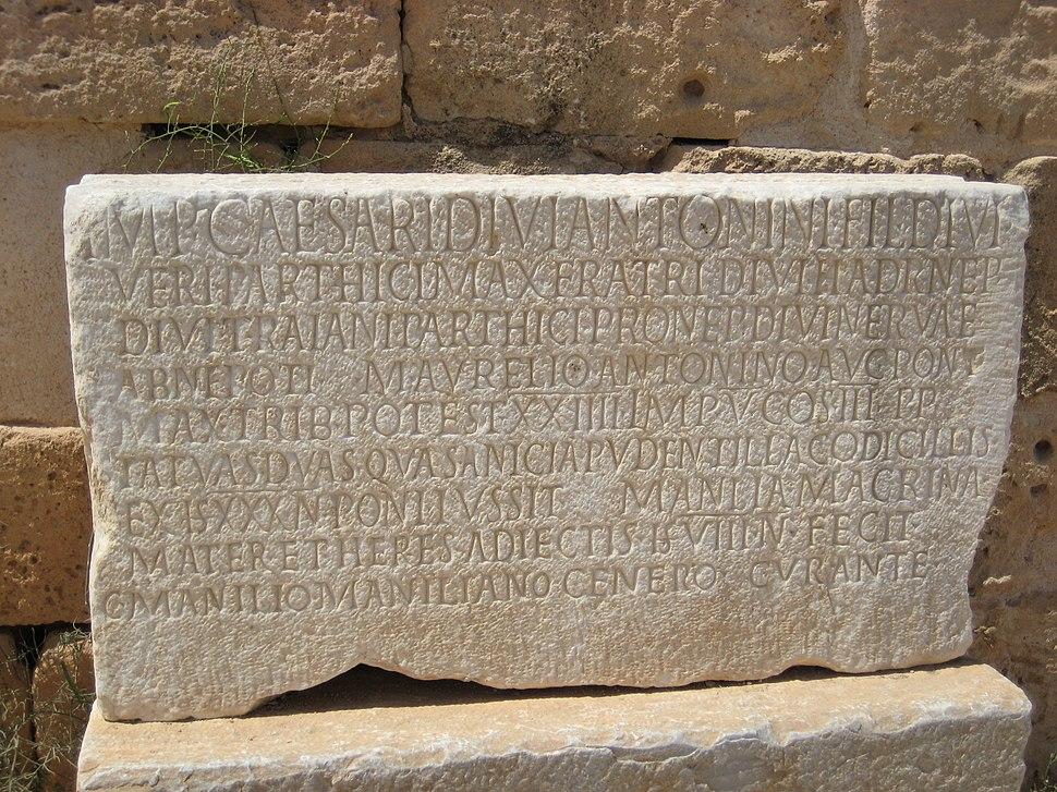 Inscription Capitolium Sabratha