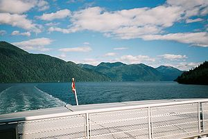 Inside Passage - Image: Inside Passage aboard MV Queen of Prince Rupert, British Columbia