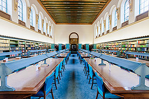 Royal Commonwealth Society - Cambridge University Library's interior reading room