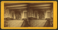 Interior view of ceremonial room, with three chairs on a dias with curtains above them, from Robert N. Dennis collection of stereoscopic views.png