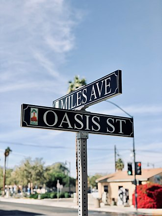 Indio, California - Intersection of downtown Indio at Miles Avenue and Oasis Street.