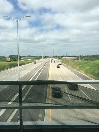 Interstate 90 in Illinois - I-90 at the Belvidere Oasis following the 2013-14 rebuild/widen.
