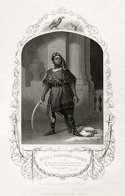 Ira Aldridge as Aaron in Titus Andronicus