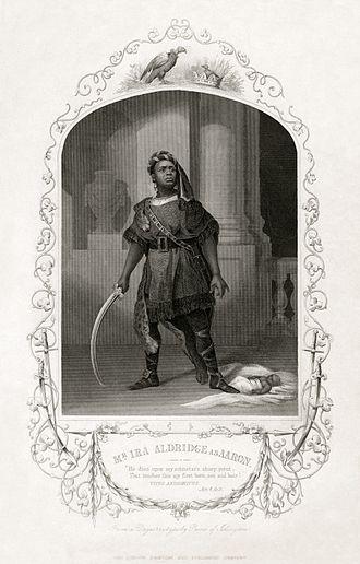 Ira Aldridge - Aldridge as Aaron in Titus Andronicus