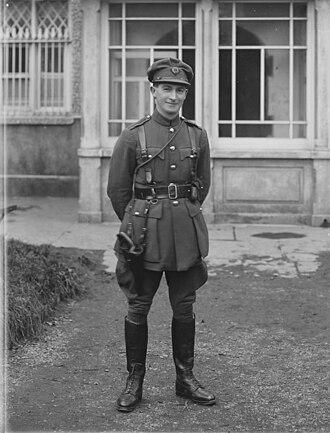National Army (Ireland) - Commdt. Hetherington of the Irish National Army, photographed on 7 November 1922.