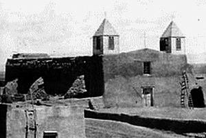 San Agustín de la Isleta Mission - Image: Isleta mission 1880