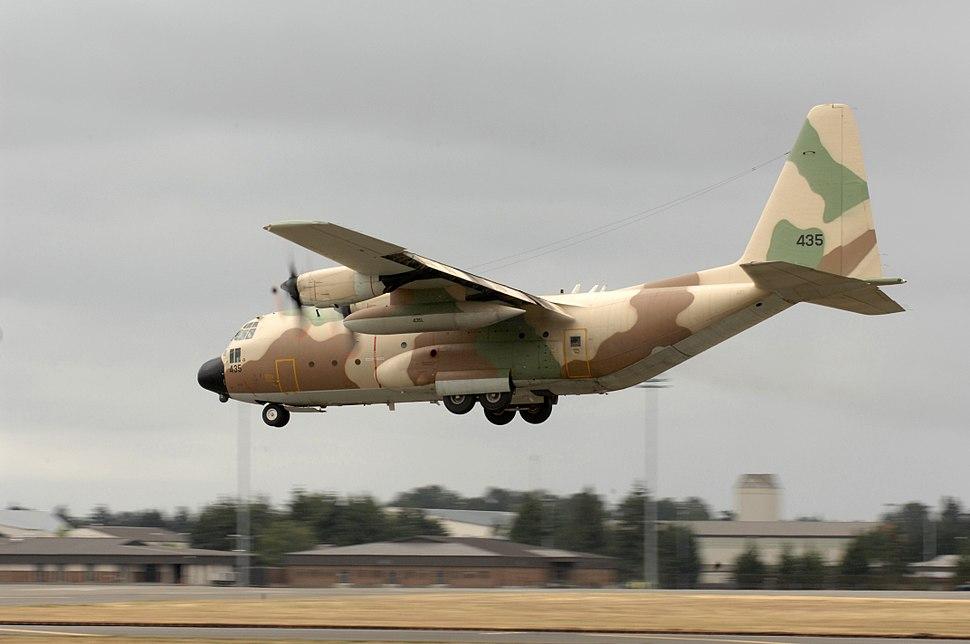 Israeli C-130E landing McChord AFB 2009