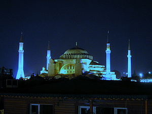 History of the Eastern Orthodox Church - Hagia Sophia at night