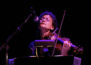 Czech violinist Iva Bittova in concert Photo: ...
