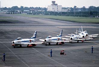 Blue Impulse - Blue Impulse team at Yokota AB, 1981.