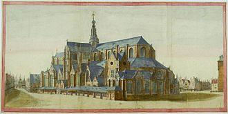 Salomon de Bray - Image: JA Beerstraten Bavokerk na uitbreiding Salomon de Bray 1659